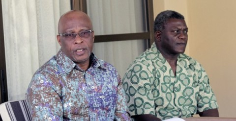 Dr Brian Chituwo with MMD President Nevers Mumba