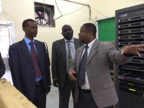 INFORMATION AND BROADCASTING MINISTER DR.JOSEPH KATEMA ZNBC tour