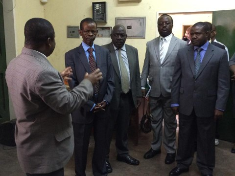 INFORMATION AND BROADCASTING MINISTER DR.JOSEPH KATEMA tours ZNBC