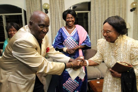 KK's 90th Birthday in Pictures - Hand shake