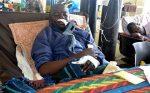 Kelvin Katoka in his hospital bed at the Kitwe Central Hospital Photo- AFP