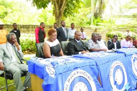 Mike Mulongoti with MMD Rebels Dora Siliya, Dr Michael Kaingu, Brig Gen Dr Brian Chituwo, Lucky Mulusa, Chembe Nyangu and Kapembwa Simbao