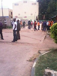 PF thugs waiting to stone HH and team. What a way of proving you are a working boma?