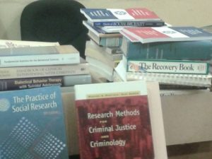 Part of the consignment of the books donated from Canada.