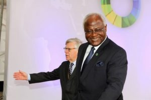 President Ernest Bai Koroma of Sierra Leone arrive at the closing ceremony of the EU -AU Summit on Thursday 03-04-2014. PIcture BY EDDIE MWANALEZA: