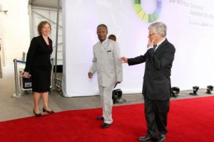 President Michael Sata arrives at the closing ceremony of the EU -AU Summit in Brussels on Thursday, 03-04-2014 -Picture by Eddie Mwanaleza — in Belgium.