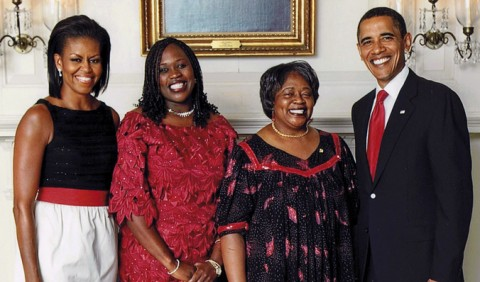 Prophetess Mwaka Twagirayesu rubbing shoulders with the Obamas