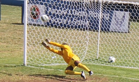 Sam Banda was the man of the match as he pulled of brilliant saves even denying Kalu from the spot