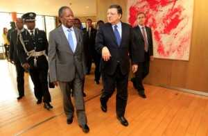 Sata with  Mr. Jose Manuel Barroso, President of the European Commission at Berlaymont Building in Brussels