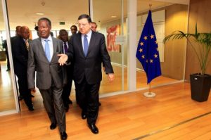 Sata and  Mr. Jose Manuel Barroso, President of the European Commission at Berlaymont Building in Brussels