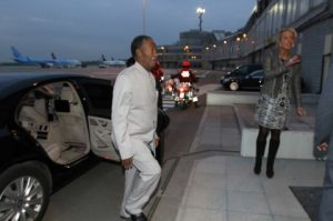 Sata leaves Brussels for Lusaka via Amsterdam Steps out of the car