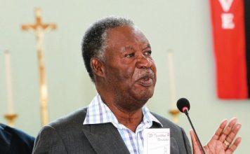 Sata speaks at St Ignatius Catholic Church in Lusaka