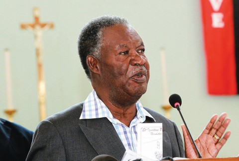 Sata speaks at St Ignatius Catholic Church in Lusaka