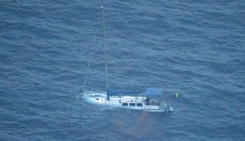 yacht in distress of the coast of Perth