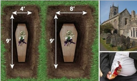 SUPER-SIZE graves meant solely for overweight people have been planned by a council to cope with Britain's growing obesity crisis.