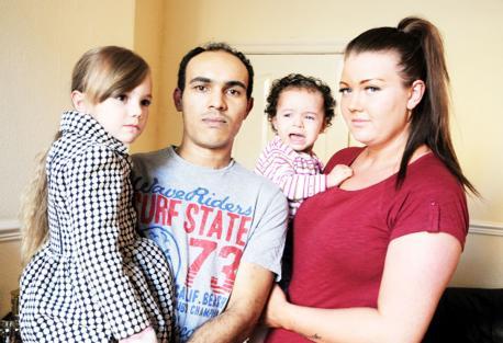 Tegan, dad Bernard, Faith and Danielle