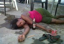 zambian drunk woman
