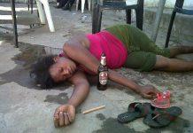 zambian drunk woman