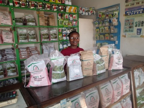 Agro Dealer in Kenya (Photo credit- AGRA)