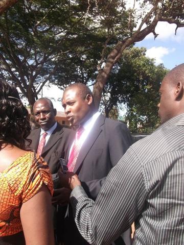 Alliance for Better Zambia-ABZ President Frank Bwalya addressing the media