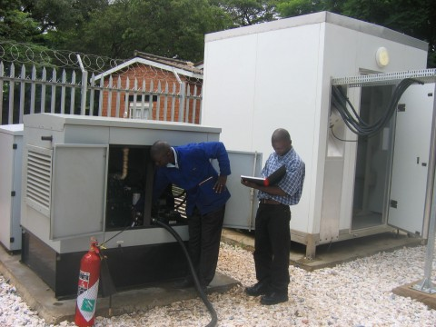 Although intended as standby generators, these generators are initially used to power the sites until the Zesco power is supplied.