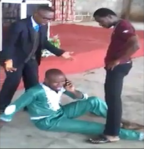 Guy Answers His Phone During Pastor's Anointment!