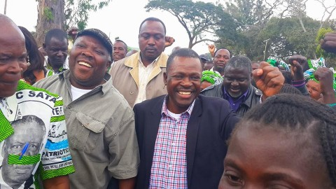 Kabimba With Northern Province Minister Freedom Sikazwe and other members and leaders of our party yesterday in Luwingu
