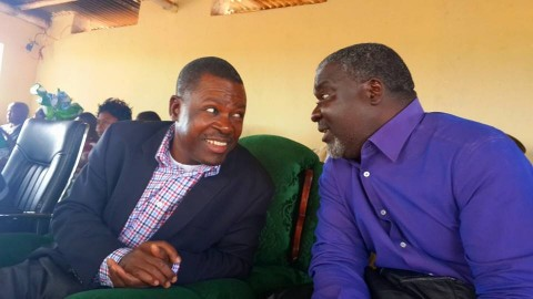 Kabimba With colleague and Lupososhi Member of Parliament Lazarous Chungu Bwalya in Luwingu May 24th 2014