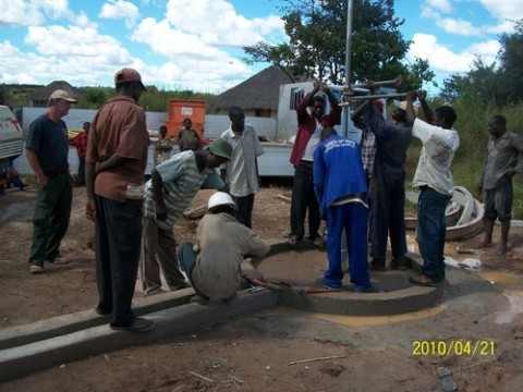 Kaniki was the place. On April 26 the borehole was completed, providing clean water to hundreds of people in the community