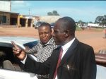 MMD Chairperson for Northern Province in black Stephen Mukuka and his PF Counterpart Everist Chela