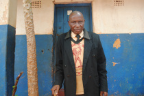 Mpundu Mutembo outside his home in Mbala. Picture by Chibamba Kayula.
