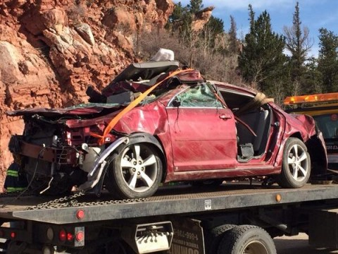 Pic- Kristin Hopkins' car, missing since Apr  29  She was found