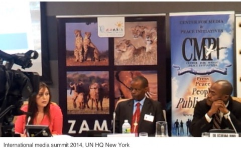 The Minister was speaking at a panel discussion organised by the Zambian Mission to UN and the Centre for Media and Peace Initiatives (CMPI) under the theme reconstruction of Journalism; Credibility and Identity Crises in the Fourth Estate.