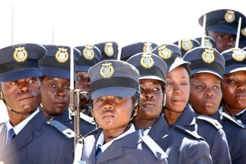 Some of the 100 ZAF officer cadets graduates
