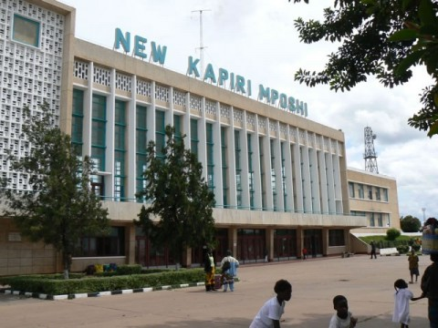 The Kapiri Mposhi station is the end of the line for the train (The Tazara)