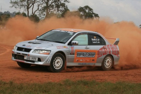 Ugandan teenage rally driver Shafik Semujju