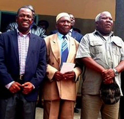 Wynter M. Kabimba With Chief Chipalo (centre) in Luwingu