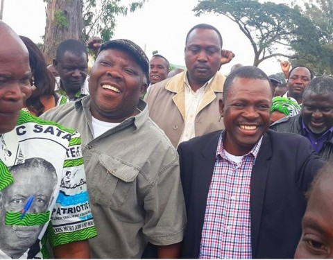 Wynter M. Kabimba With Northern Province Minister Freedom Sikazwe and other members and leaders of our party May 24th 2014 in Luwingu