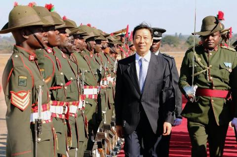 Chinese Vice President Li Yuanchao kicked off a three-day visit to Zambia on Wednesday by signing development loan and grant agreements worth $64 million (47 million euros).