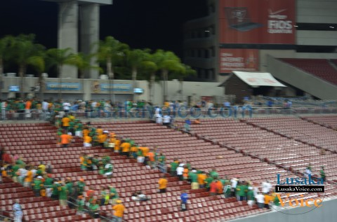 Chipolopolo Supporters - Japan vs. Zambia | Raymond James Stadium
