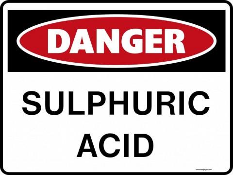 Danger Signs - Sulphuric Acid