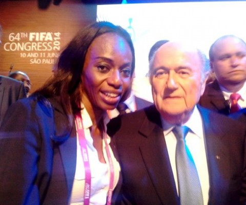 FIFA President, Sepp Blatter made special mention of the Sierra Leonean Football Association, President, and Isha Johansen at the Congress.
