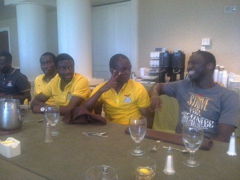 Jacob Mulenga meets the rest of the chipolopolo boys