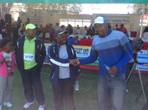 MMD Die Hard youth Coordinator Bowman Lusambo at Inter Company relay