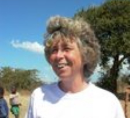 Sue Chapman in Mukobela village in Shibuyunji district