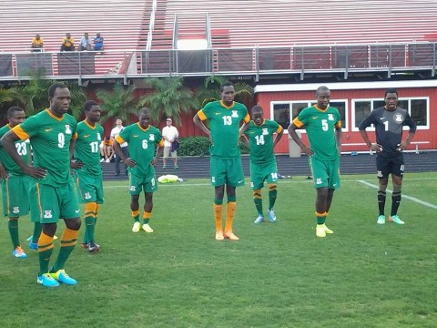The Chipolopolo have had their first training session in America at the Papin stadium in Tampa.