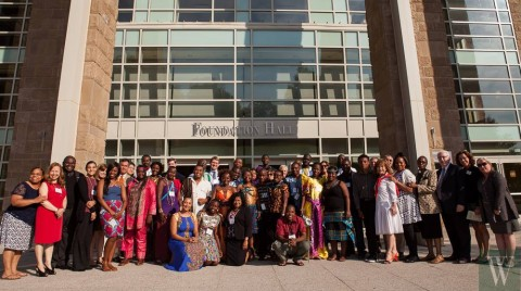 Washington Fellows from other African countries and the some members of the faculty at Wagner College