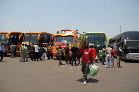intercity bus terminus in Lusaka.