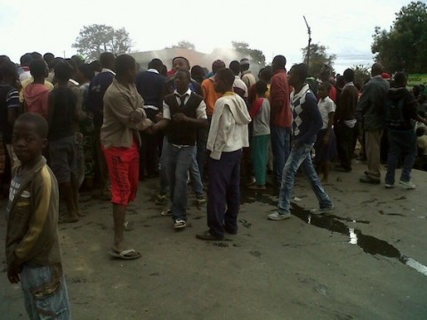 protesters at Matero BIGOCA church subsidies