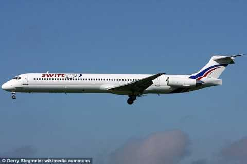 Air navigation services lost track of a Swiftair MD-83 passenger plane (like one above) carrying 110 passengers and six crew members after it disappeared off the radar on its way to Algiers